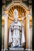 Catholic priest statue of Nice Cathedral. — Stock Photo