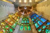 Sagrada familia v barceloně ve španělsku, evropa. — Stock fotografie