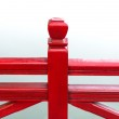 Detail of wooden red bridge — Stock Photo #45068989