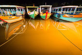 Boats at night in Hoi An — Stock Photo