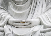 Buddha statue with hands as main subject — Stock Photo