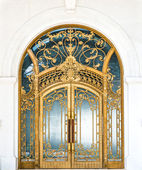 Door with gold ornate pattern — Stock Photo