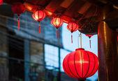 Traditional vietnamese lanterns outside — Stock Photo