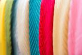 Multicolored scarves — Stock Photo