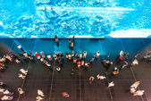 People in oceanarium — Stock Photo