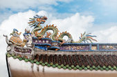 Roof of Vietnamese temple — Stock Photo