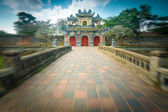 Beautiful gate to Citadel of Hue — Стоковое фото