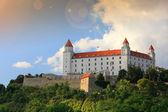 Bratislava city near danube river — Stock Photo