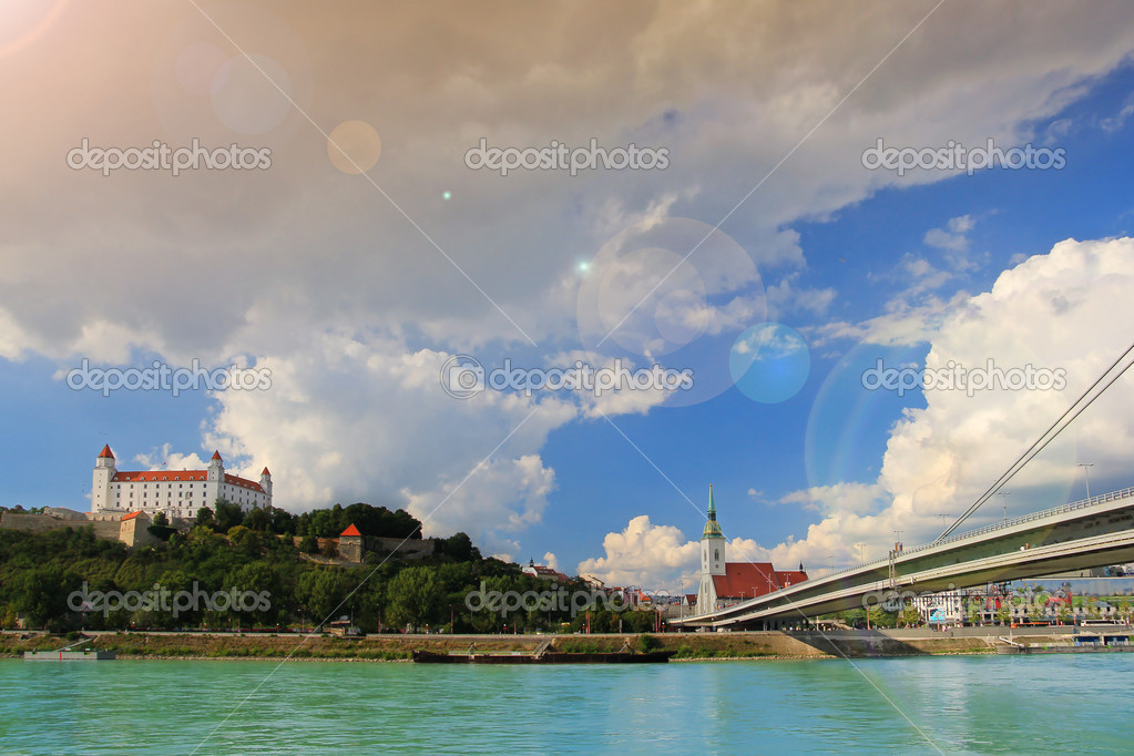 Bratislava city near danube river  Stock Photo #12337929