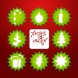 Royalty-Free Stock Vector Image: Vector christmas poster made from icons