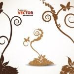 Floral beautiful — Stock Vector