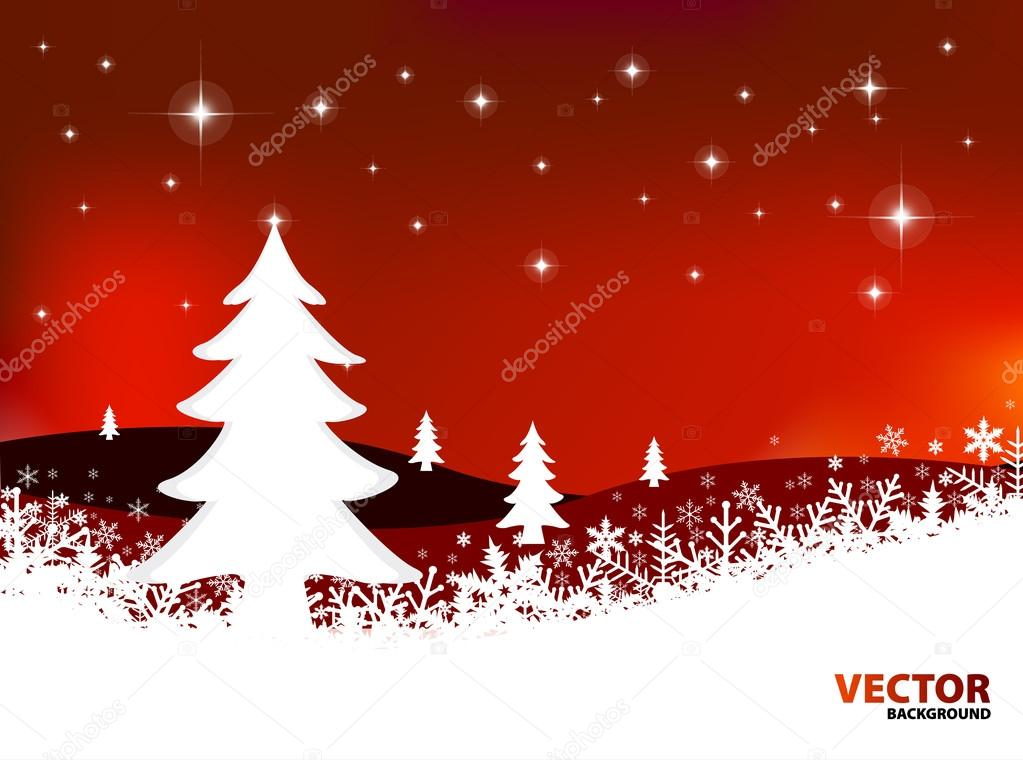 Christmas landscape vector illustration — Stock Vector #12625888