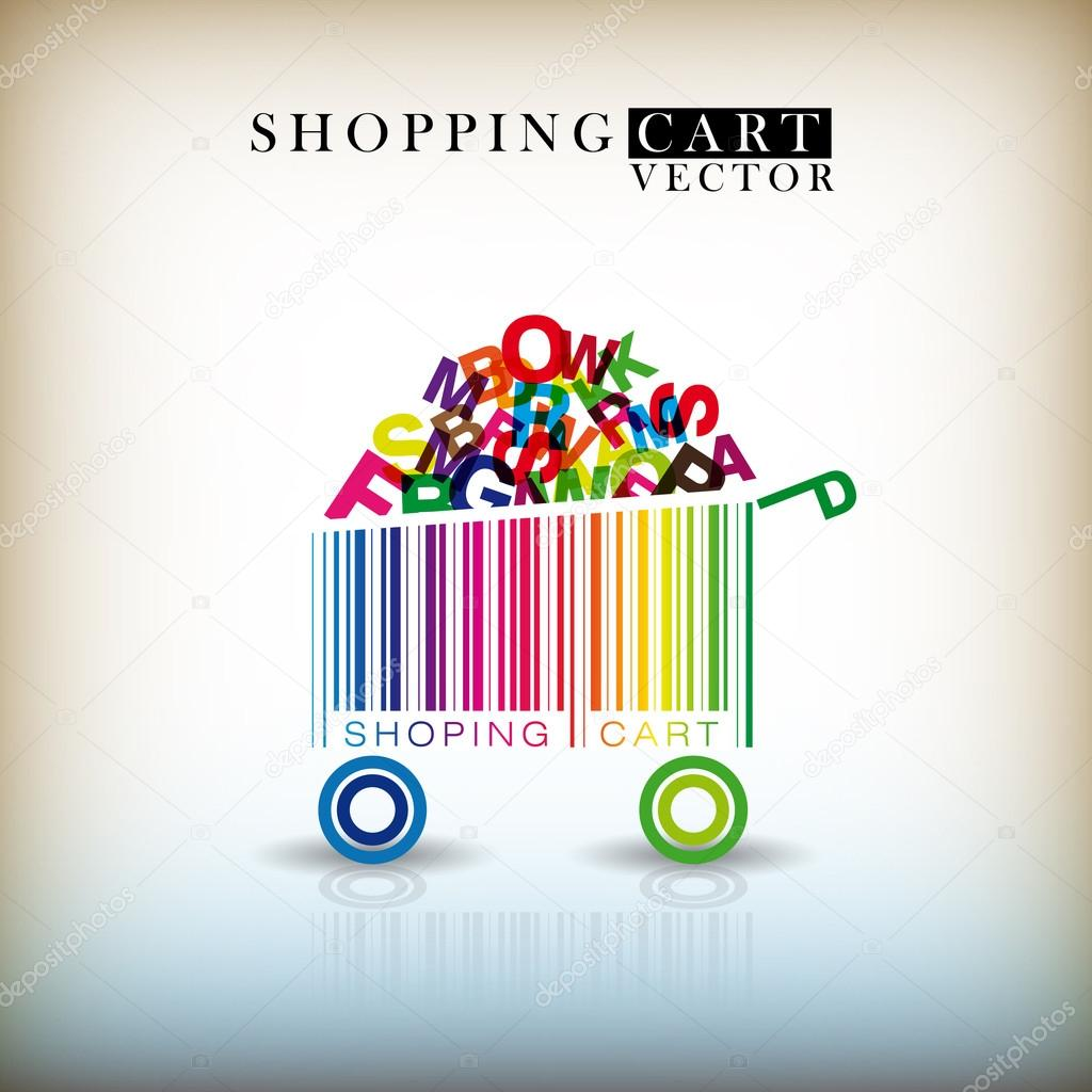 Abstract vector shopping cart  Stock Vector #12705858