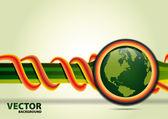 Green planet vector background — Stock Vector