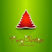 Beautiful sticker vector christmas tree — Stock Vector