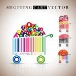 Abstract vector shopping carts — Stock Vector #15644845
