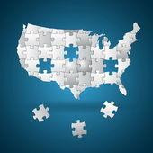 Başkanlık seçimleri bulmaca — Stok Vektör