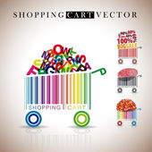 Abstract vector shopping carts — Stock Vector