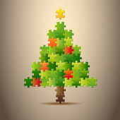 Simple vector christmas tree — Stock Vector