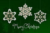 Christmas simple vector snowflakes — Stock Vector