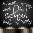 Back to school with pencils - vector — Stock Photo