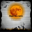Halloween night illustration - background with place for text - Stock Photo
