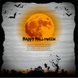 Halloween night illustration - background with place for text — Stock Photo