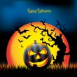 Halloween night illustration - background with place for text — Stock Photo #17165073
