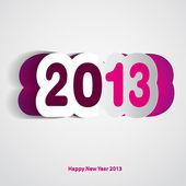 Tarjeta de feliz año nuevo 2013 — Foto de Stock