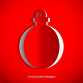 Paper Christmas Ball on white background — Stock Photo