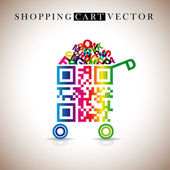 Abstract vector shopping carts — Stock Photo