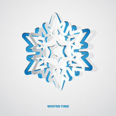 Christmas snowflake applique vector background — Stock Photo