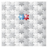 Presidential election puzzle — Stock Photo