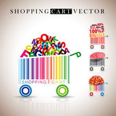 Abstract vector shopping carts — ストック写真