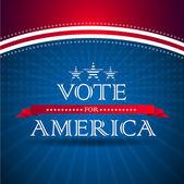 Stemmen voor amerika - verkiezingsposter — Stockfoto