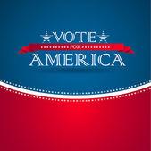 голосовать за америка - предвыборный плакат — Стоковое фото