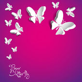 Gratulationskort med papper butterfly — Stockvektor