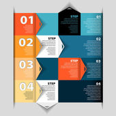 Modern Design template - numbered banners - Infographics for website layout vector — Stock Vector