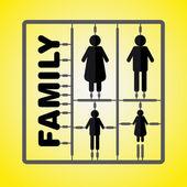 Siluet aile modeli kit ile işaret - anne — Stok Vektör