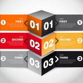 Modern cube style options banner for workflow layout, number options, step up options, web design, infographics — Stock Photo