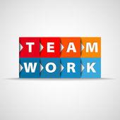 Team work concept square concept — Stock Photo
