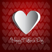 Happy mother day background with heart — Foto Stock