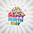 Happy Birthday Greeting Card — Foto Stock #24861405