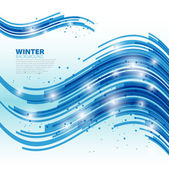 Blue wave abstract lines background - Spring theme — Stock Photo