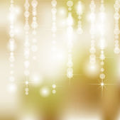 Abstract Golden Holiday Background With Lights and Stars — Stock Photo