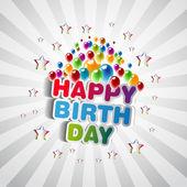 Mutlu doğum günü tebrik kartı — Stok fotoğraf