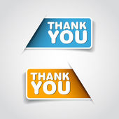 Thank you - Two grateful label — Stock Photo
