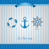 Nautical Sea Design Elements — Stock Photo