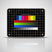LED TV - color test pattern - test card — Stock Photo
