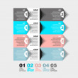 Modern Design template - numbered banners - Infographics for website layout vector — Stock Photo